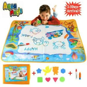 Large Doodle Water Painting Drawing Mat Toys Boys Girls Kids Board Aquadoodle