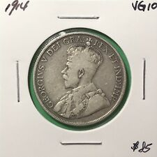 Canada 1914 Fifty Cents Silver 50 Cent VG/F