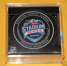 COLORADO AVALANCHE vs DETROIT RED WINGS Stadium Series 2016 OFFICIAL GAME PUCK