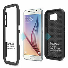 iLuv SS6DROABK DropArmor dual-layer case with a impact-resistant for Galaxy S6