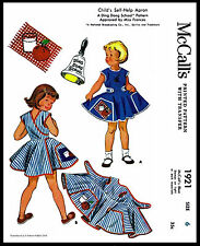 APRON Sewing Pattern Child Toddler Girls McCall's 1921 DRESS DING DONG SCHOOL ~6