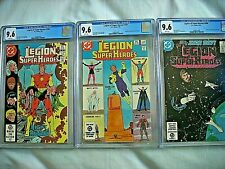 DC LEGION OF SUPER-HEROES #296 #301 #306 CGC 9.6 NM+ White Pages 1983