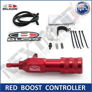 BLOX RED Manual Boost Controller Adjustable Boost Tee Turbo Supercharged MBC GFB