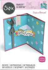 SIZZIX FRAMELITS CUTTING DIE SET - 560145 S BARNARD CARD WITH BANNERS DROP INS