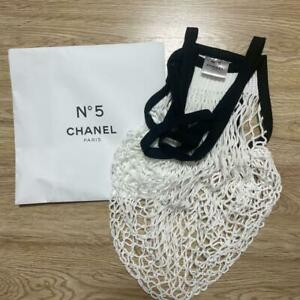 CHANEL factory N°5 Novelty  Limited Mesh bag white Japan 2021 free ship NEW