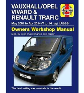 Vauxhall Vivaro Repair Manual Haynes Workshop Service Manual 2001-2014