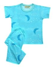 Girls Baby/Toddler Blue Moon & Star Print Pajama Set Sleepwear, Small (3T-4T)