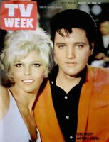 TV Guide 1968 Elvis Presley Nancy Sinatra International TV Week VG/EX COA Rare