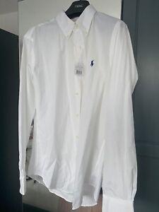 white ralph lauren shirt medium