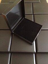 WHOLESALE JOBLOT 20 JEWELLERY GIFT BOXES BLACK HINGED BANGLE, PENDANT, EARRINGS