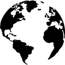 GLOBE - EARTH STENCIL - RE-USABLE 7.5 X 7.5 INCH