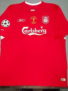 Liverpool FC Final Istanbul 2005 official RBK shirt size XL