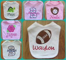 PERSONALIZED MONOGRAM CUSTOM Baby Boy Girl Bib Shower Gift Keepsake 30+ Designs!