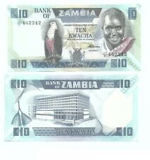 Zambia 10 Kwacha Banknote UNC 占比亚纸币