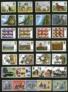 GR. BRITAIN 1979 Complete Commemorative Year, 8 sets Mint NH