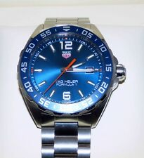 MENS TAG HEUER FORMULA 1 Blue SS W/Watch WAZ1010 Box Extra Links MINT