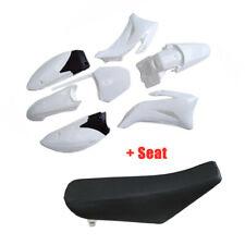 For YAMAHA TTR110 TTR 110E Complete Plastic Fenders Kit + Black Foam Seat Cover