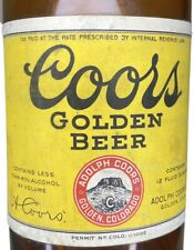 Vintage Irtp Coors Golden Beer Bottle W/ Labels From Adolph Coors Golden Co