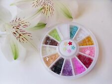 3D Nail Art Tiny 'Pearl Flowers' Stars Shape Wheel Pot over 200pcs Flat Back Gem