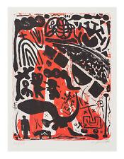 A. R. Penck, original Lithographie, handsigniert und nummeriert.