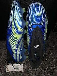 MESSI NEMEZIZ 19.1 - SIZE 9.5 - Blue/Neon Yellow - NEVER WORN SOCCER CLEATS