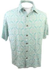 ISLAND REPUBLIC Men Hawaiian ALOHA shirt pit to pit 24 L silk camp luau tiki