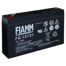Fiamm FG10721 Batteria al piombo ricaricabile 6V 7,2Ah PEG PEREGO UPS ALLARMI x