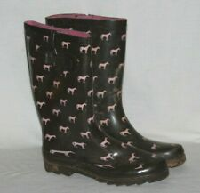 27bad333698e TWO PAIRS of Western Chief Rain Boots Horse Brown Pink Equestrian Barn Size  10