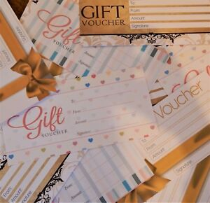 36 x   Blank Gift Certificates Vouchers, Variety Pack Assorted  NEW! INTRO PRICE