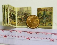1221# Engl. Miniatur Kinderbuch - Circus Fun - Puppenhaus-Puppenstube - M 1zu12