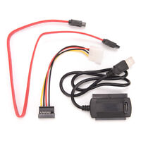 "SATA/PATA/IDE to USB 2.0 Adapter Converter Cable for Hard Drive Disk 2.5"" 3.ATA"
