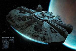 Star Wars Poster Millennium Falcon - Premium Filmplakat, Querformat 91,5 x 61 cm