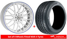 """Alloy Wheels & Tyres 15"""" Calibre Motion For Vauxhall Astra [F] 91-98"""