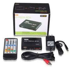 HD TV Multi Media Box Player 1080P HDMI AV YUV Adapter SD MMC MS Remote ON