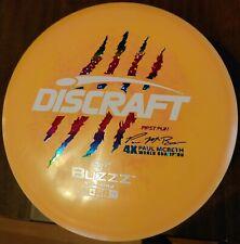 New Orange Swirl Discraft First run 4x Paul McBeth Buzzz Dual color stamp 177+gr