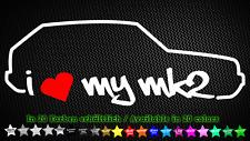I Love My mk2 VW Golf 2 GTI g40 g60 vr6 Sticker Adesivo 20cm x 7cm