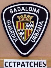 BADALONA, SPAIN GUARDIA URBANA POLICIA POLICE (BLACK) SHOULDER PATCH