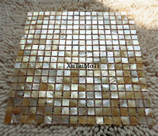 Yellow lip shell mosaic mother of pearl kitchen backsplash bathroom wall tile