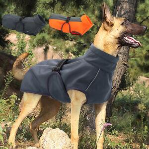 Winter Large Dog Coat Waterproof Dog Jacket Reflective Fleece Dog Collar Vest