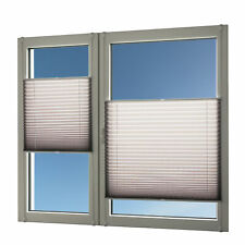 Plissee für Fenster und Türen silber-grau 100x140 ohne Bohren Rollo Jalousie