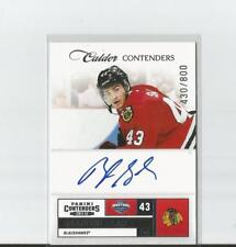 2011-12 Panini Contenders Hockey #206 Brandon Saad RC Auto 430/800 Blackhawks