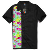 Men's, Rockabilly shirt, Flamingo Shirt , Rock n roll, Hot rod shirt, Bowling