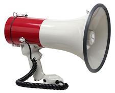 PORTABLE MEGAPHONE SIREN SPEAKER BULL HORN HAILER HANDHELD MIC SPORTS STRAP 80W