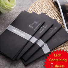 5 pcs/set High Quality Envelope Retro European Style Black Bronzing  Envelopes