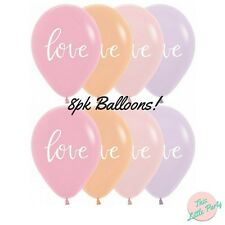 Pastel Love Balloons 8pk Word Letters Bachelorette Engagement Party Supplies