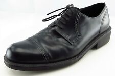 ECCO Shoes Size 44 M Black Derby Oxfords Leather Men