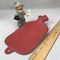 Hi Lori~ Small Red Rubber Hot Water Bottle Stopper Vintage for Child Cherub KWS
