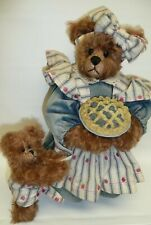"16"" ""R"" Bears & Friends by Sherre Randolph, Mohair Bear w/Baby & Pie Adorable"