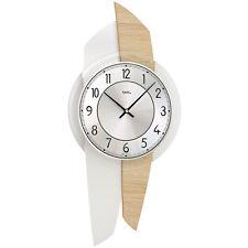 AMS Quartz Horloge Murale Panneaux arrière en bois Sonoma Optique Verre minéral