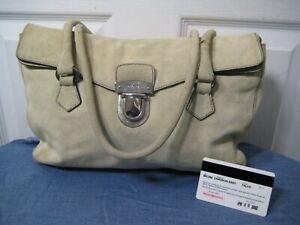 PRADA Beige Suede Camoscio Easy Shoulder Bag Purse